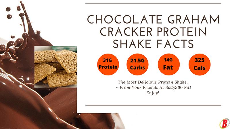Chocolate Graham Cracker Protein Shake Recipe | Body360 Fit